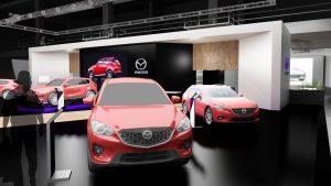 Diseno stand Mazda Salon del Automovil Barcelona SIM 2017