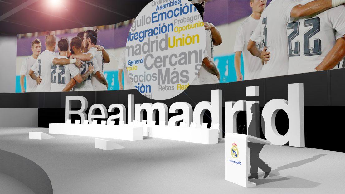 Asamblea socios Real Madrid 2015 escenografia