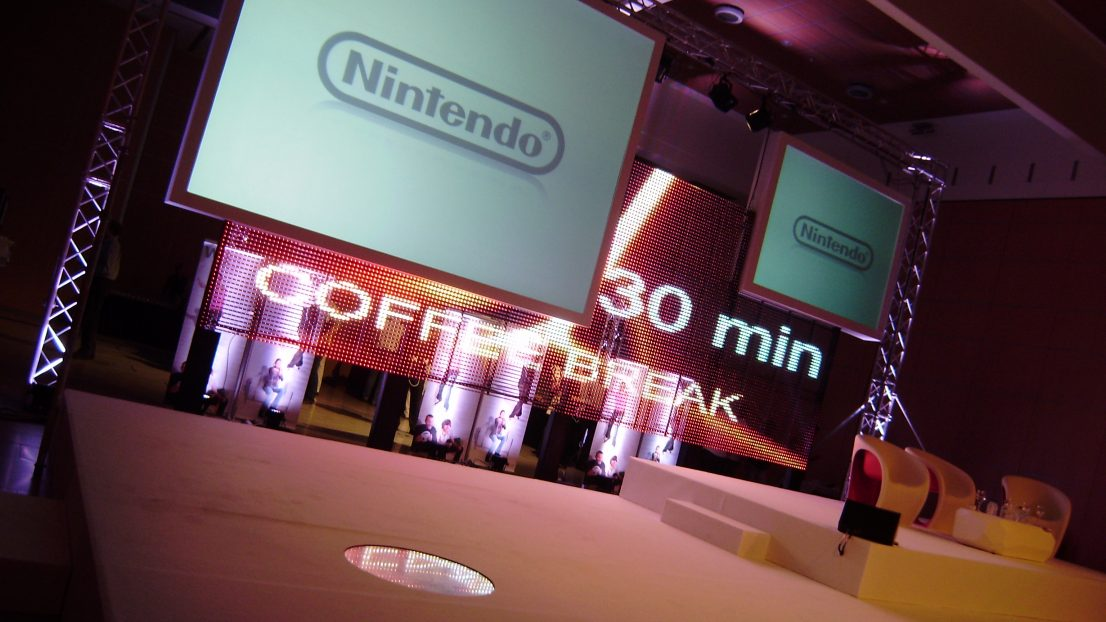 Diseno ejecucion escenografia evento Nintendo Zaragoza