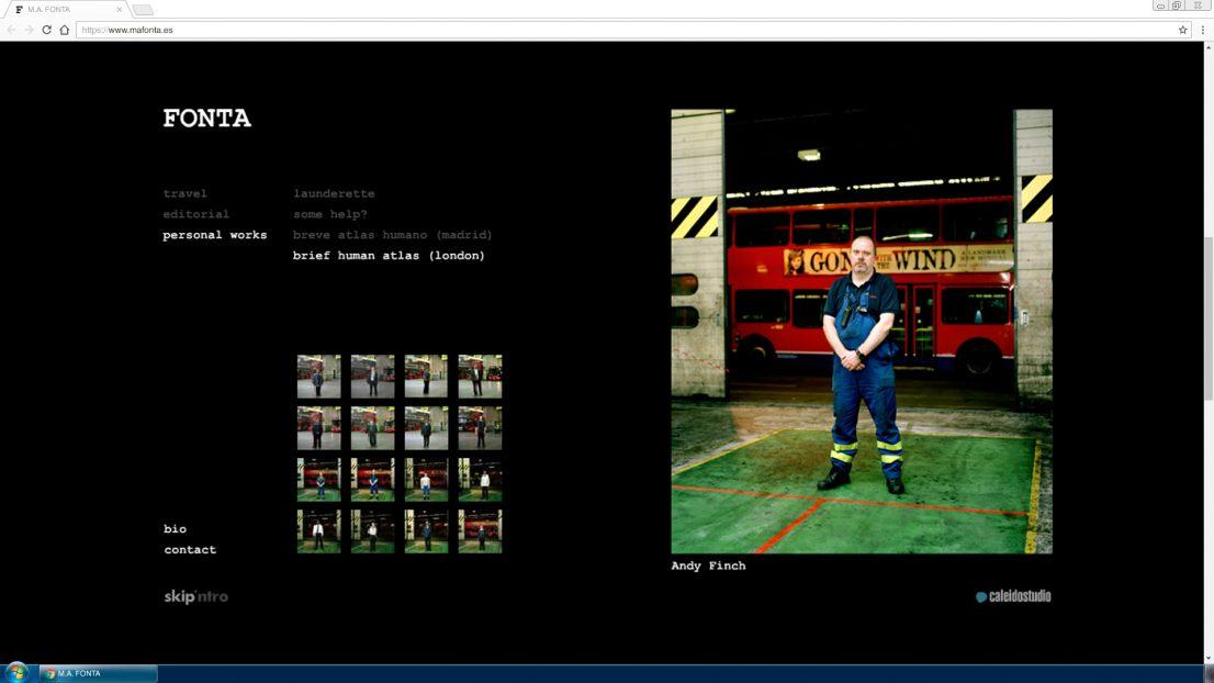 Diseno portfolio web fotografo Fonta