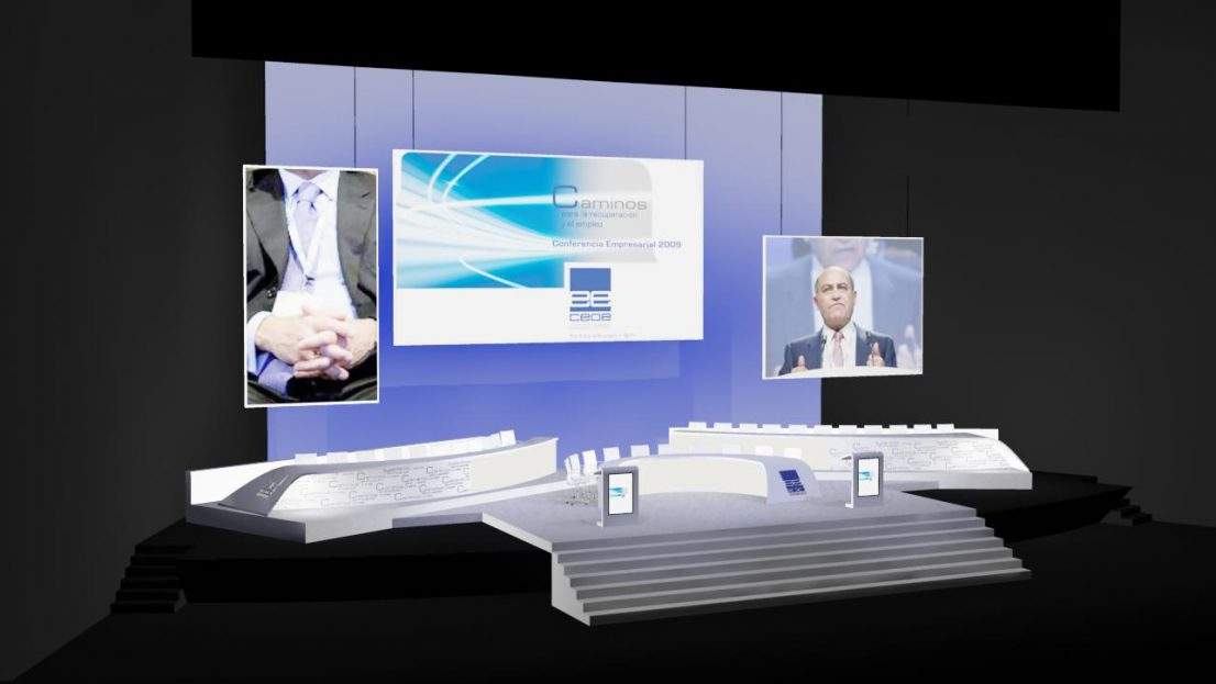 Escenografia evento CEOE Conferencia Empresarial 2009