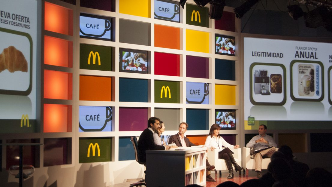 Escenografia evento McDonald's COOP