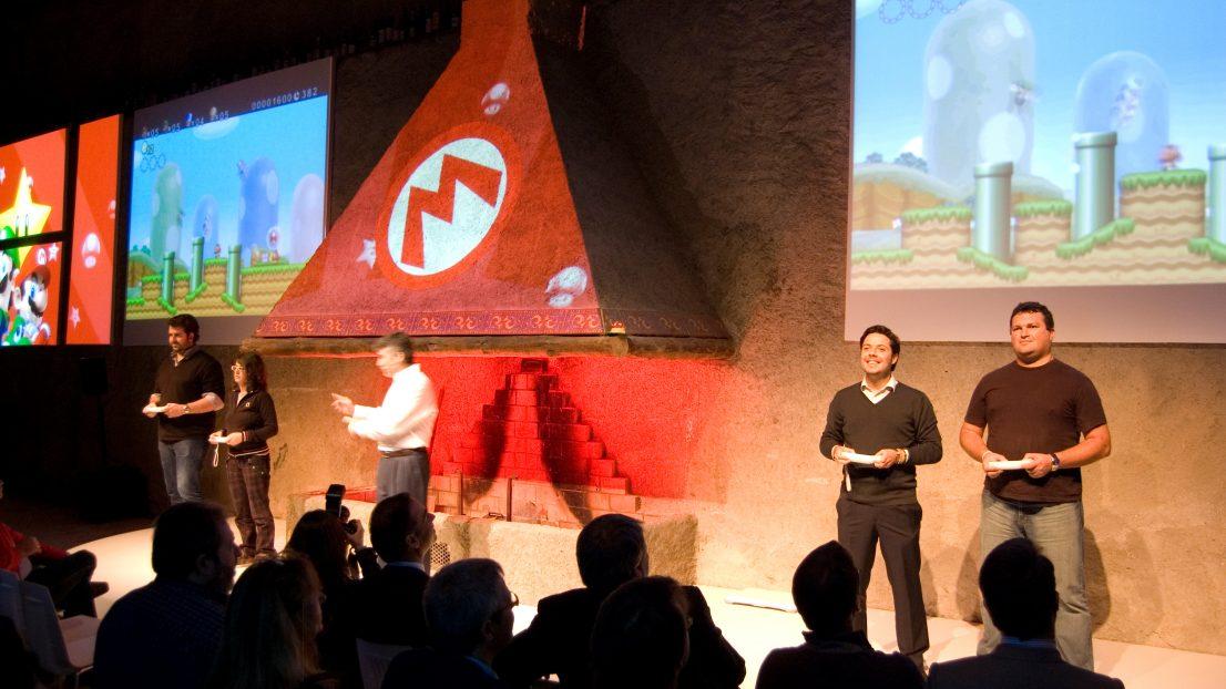 Escenografia evento Nintendo comerciales
