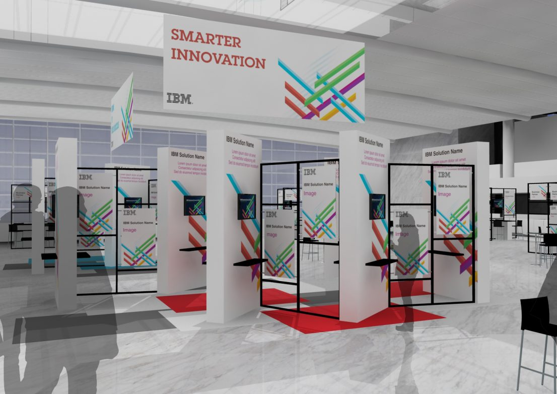 Escenografia stands IBM Congreso de Software 2013