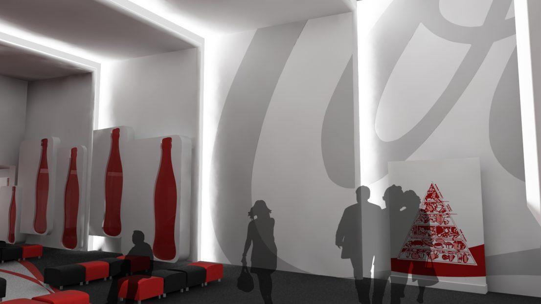 Interiorismo sala proyecciones coca-cola Casbega Madrid