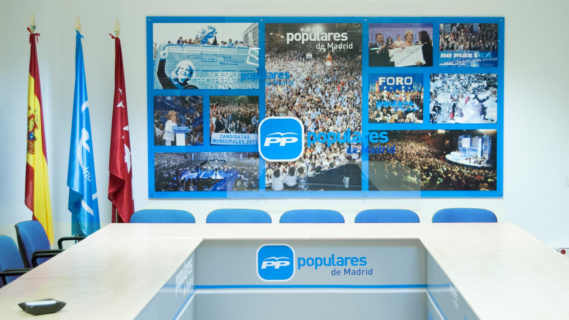Proyecto interiorismo diseno sala de reuniones partido - Diseno de producto madrid ...