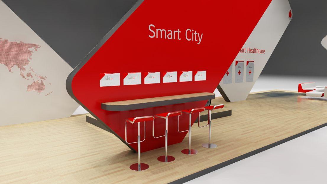 Vodafone Stand Qitcom Qatar