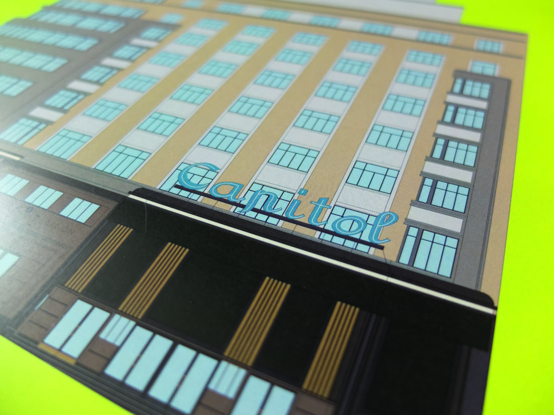 lamina-ilustracion-arquitectonica-fachada-edificio-carrion-capitol-schweppes