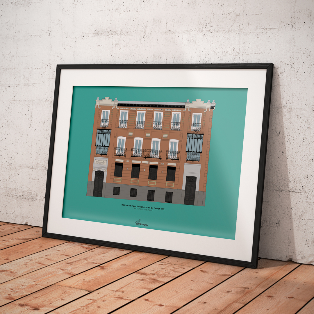 lamina-ilustracion-arquitectonica-fachada-edificio-instituto-fisica-terapeutica-doctor-decref